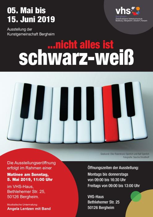 Klavierschale zur VHS Ausstellung